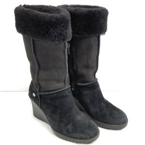 UGGS Australia 6 Boots Suede Leather & Sheepskin